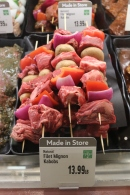 Filet Mignon kabobs made in-store!