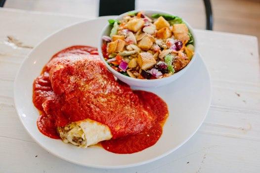 Spaghetti Pie: Spaghetti, Housemade Meatballs, Mozzarella, Smothered in Housemade Marinara, Garnished with Parmigiano Reggiano